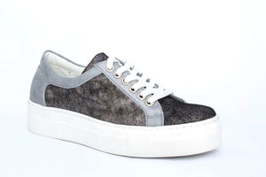 SK Falling Star Leather Platform Sneakers