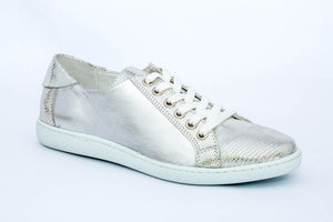 SK Women's Silver Pigeon Leather Sneakers
