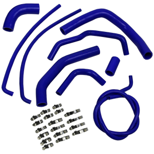 Eazi-Grip Silicone Hose and Clip Kit for Kawasaki Z1000 2010 – 2014 Blue