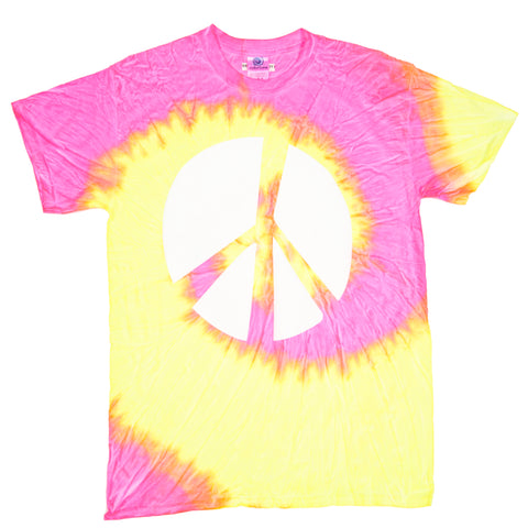 PIECE OUT TIE DYE TSHIRT