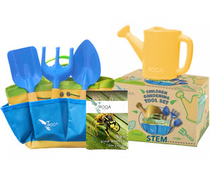 Gardening Tools for Kids with STEM Learning Guide - Green - ROCA Toys learning toys