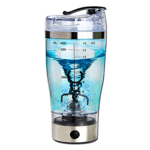 USB Electric Stainless Steel Auto Stirring Leakproof Lid Shaker Bottle