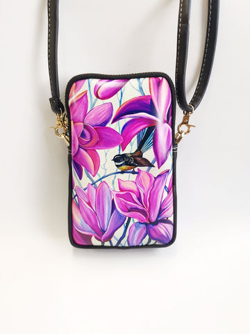 Cell Phone Bag - Fantail Irises