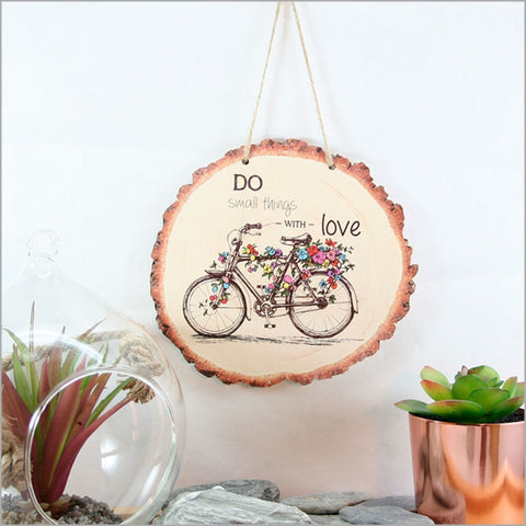 Wood Slice Art: Bicycle