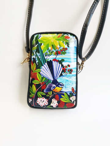 Cell Phone Bag - Fantail Rangitoto