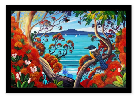 Box Frame - Rangitoto Island View