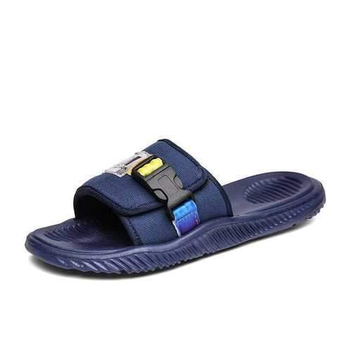 Men Textile Hook Loop Soft Opened Toe Sandals
