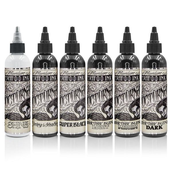 Nocturnal Tattoo Ink - Full Set of 6 Bottles