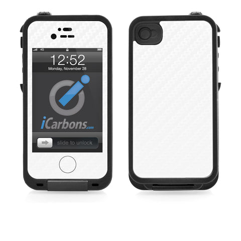 LifeProof Case iPhone 4/4S Skin - White Carbon Fiber - iCarbons - 1