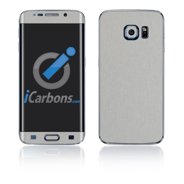 Samsung Galaxy S6 Edge Skins - Brushed Metal - iCarbons - 2