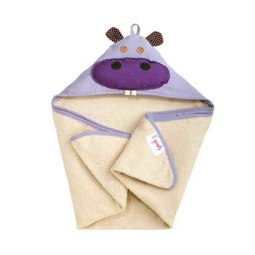 hippo hooded towel - 3 Sprouts - 1