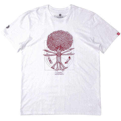 Camiseta Element Pushing Tree Proportions - Branco