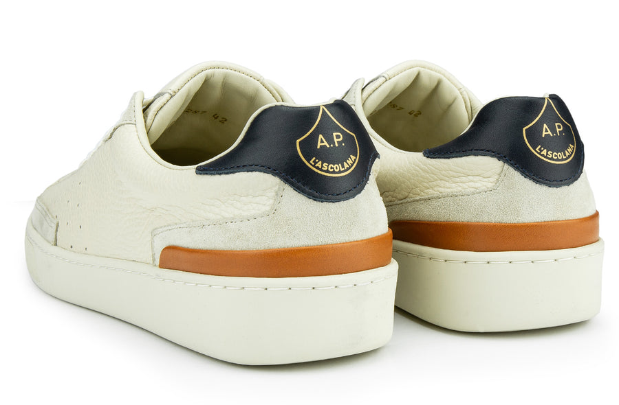 Cassetta Floater Leather - Cream / Navy