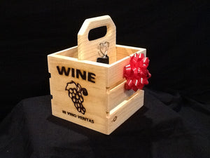 Wine Gift - Wooden Crate