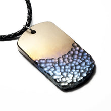 Load image into Gallery viewer, tatanium dog tag, handmade dogtag , mens pendant, mens necklace
