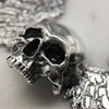 Large Winged Skull Necklace