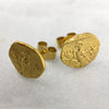 Gold Parrot Coin Earrings