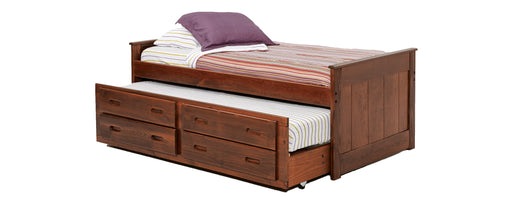 Twin Captains Bed with Trundle and Drawers