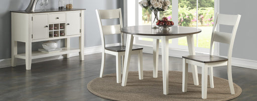 Grey and White Drop Leaf Dining Room Set