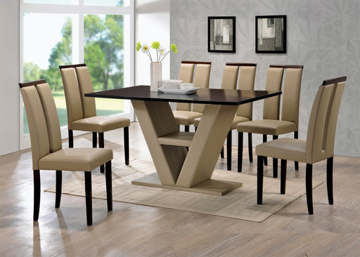 V Shaped Dining Set with 4 Chairs  by Nationwide Furniture