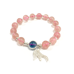 FA002 - Stawberry crystal mermaid tail bracelet