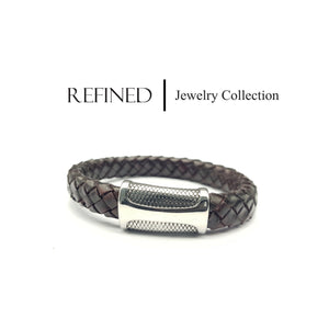 R066 - Refined Brown Leather Bracelet