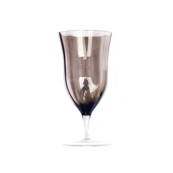 Claret Water Goblet - Smoke Gray (for sale)