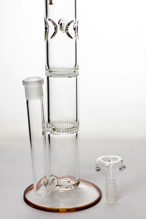 "17"" GHOST dual honeycomb diffused glass bongs - One wholesale Canada"