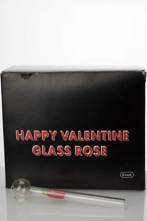 Happy valentine love rose Oil burner pipe - One wholesale Canada