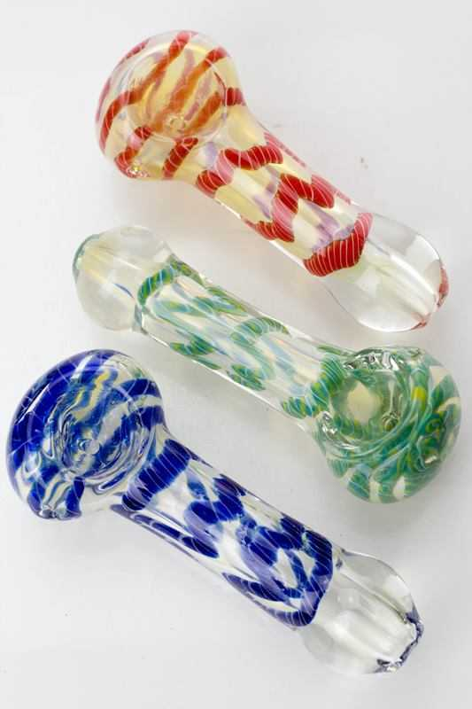 "3.5"" soft glass 3482 hand pipe - One wholesale Canada"