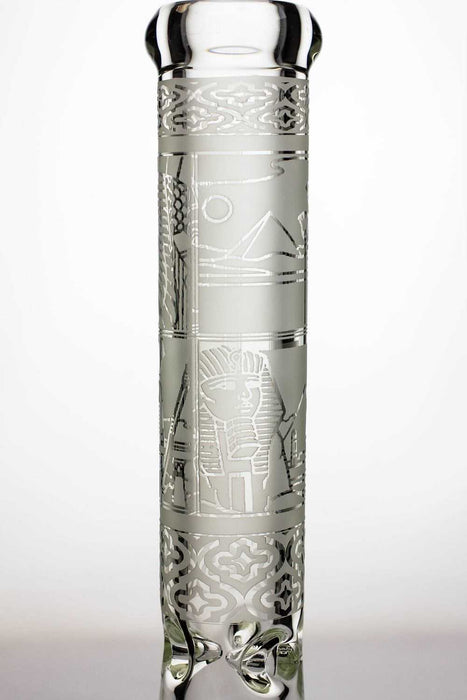 "13.5"" 9 mm thick sandblasted glass beaker water bong - One wholesale Canada"