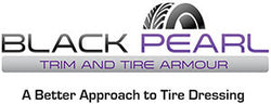 Black Pearl Trim and Tire Armour Black Permanent Tyre Dressing & Trim Restorer Logo on White