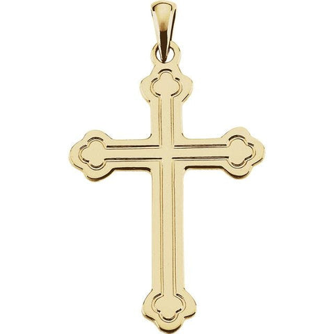 14 Karat Yellow Gold Cross - JEWELRY Boston
