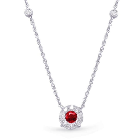 .39 Carat Ruby And Diamond Necklace - Jewelry Boston