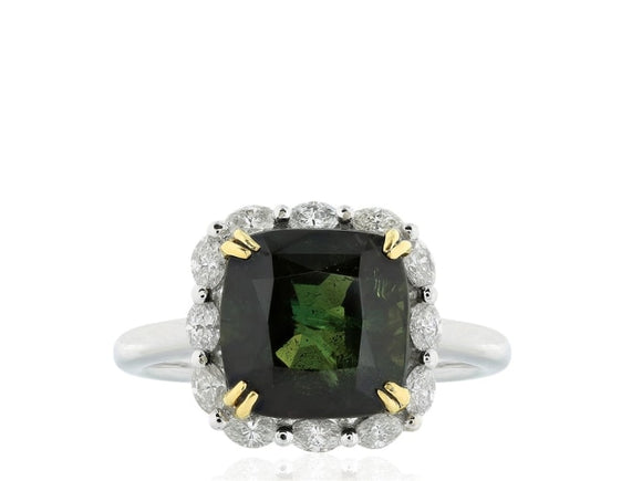 6.73 Carat Alexandrite And Diamond Ring (Platinum) - Jewelry Boston