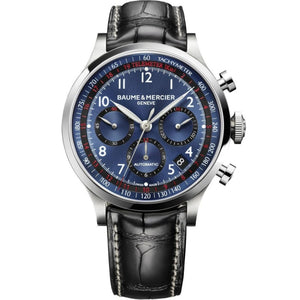 Baume & Mercier Capeland Chronograph 42Mm Stainless Steel (10065) - Watches Boston