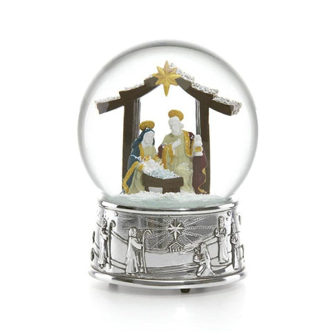 Reed & Barton Nativity Snowglobe - Home & Decor Boston