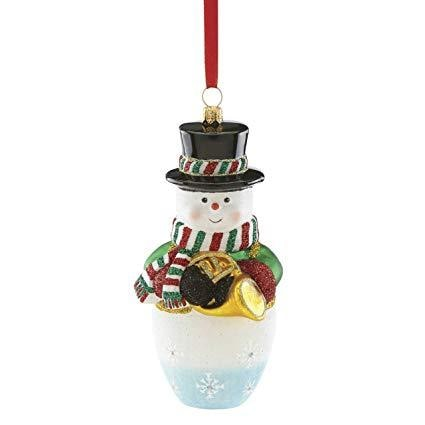 Reed & Barton Snowman W/ French Horn Ornament - Home & Decor Boston