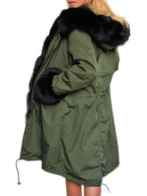 Load image into Gallery viewer, Patchwork Single Breasted With Pockets Trendy Hooded Overcoats