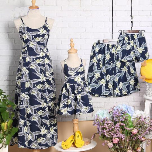Floral Prints Family Summer Outfits