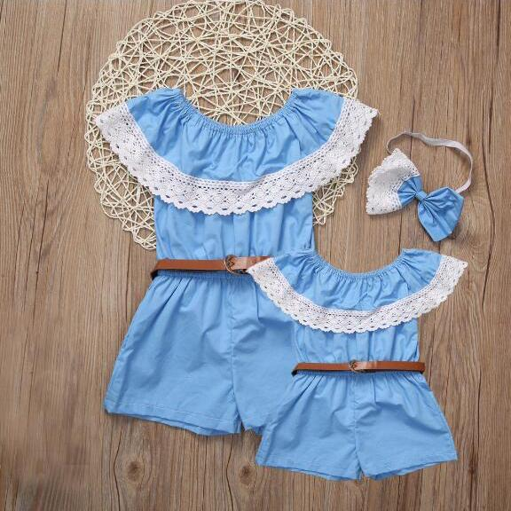 Mom Girl Jumpsuit With Belt
