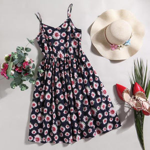 Mom Girl Flowers Prints Outfits