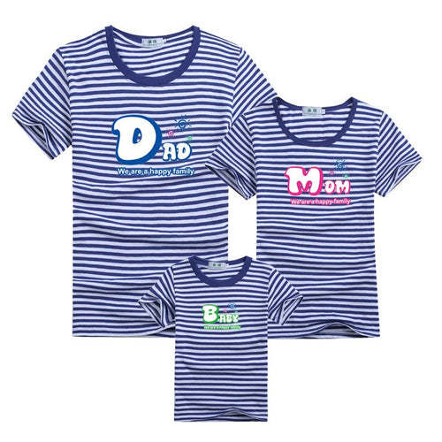 Blue Stripes Family T-Shirt