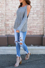 Load image into Gallery viewer, Open Shoulder  Cutout  Plain Sweaters