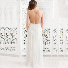 Load image into Gallery viewer, Maternity Open Back Sleeveless Maxi Dress