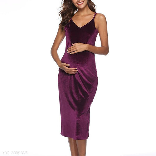 Sexy Forking Buttocks Camisole Maternity Dress
