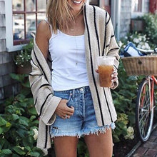 Load image into Gallery viewer, Flare Sleeve Loose Stripes Cardigans