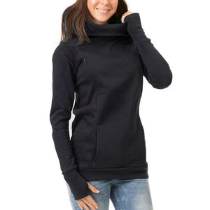Thickening Long Sleeves Exposed Finger Lactation Maternity Hoodie