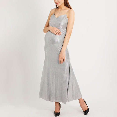 Maternity Spaghetti Strap  Plain Evening Dresses