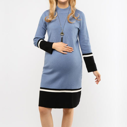 Maternity Color Block Knitted Dress